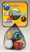 MARBLES PAK-A-SHOOTERS (1in.) ASSORTED NET