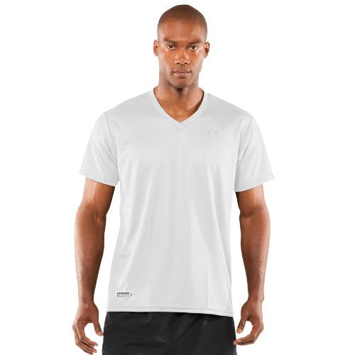 Men's UA HeatGear® Tactical V-Neck T-Shirt (Color: White/White Size:)