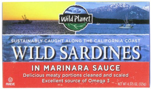 Wild Planet Sardines in Marinara Sauce 4.38 OZ
