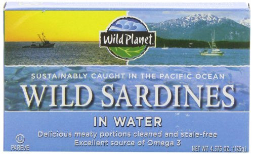 Wild Planet Sardines in Spring Water 4.375 OZ