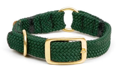 "Center Ring Collar (Color: Hunter Green Size: 18"")"