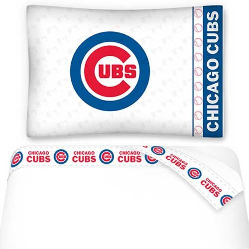 MICRO FIBER SHEET SET  Chicago Cubs - Color White - Size Twin