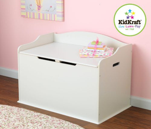KidKraft Austin Wood Toy Box Chest & Bench - White