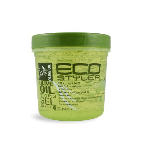 Olive Oil Styling Gel - Green, 16 oz.