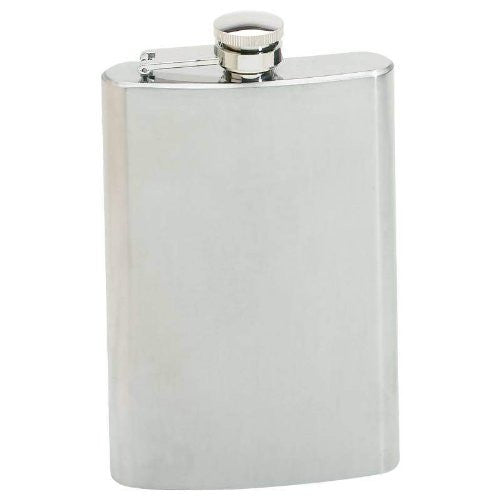 Maxam 8oz Stainless Steel Hip Flask with Screw Down Cap
