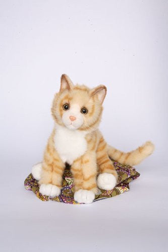 "Peaches Orange Tabby Cat 16"" by Douglas Cuddle Toys"