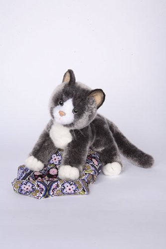 "Cloudy Grey Tabby Cat 16"" by Douglas Cuddle Toys"