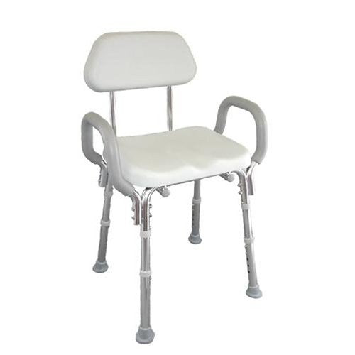 Shower Chair, Padded Seat, w/Arms and Back