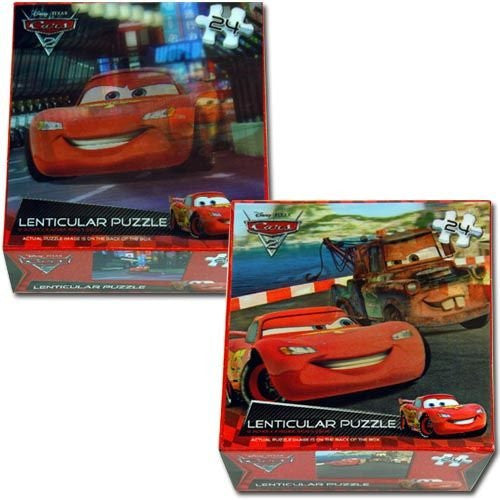 LICENSED LENTICULAR PUZZLES - Cars 24pc