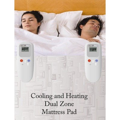 Cooling and Heating Mattress Pad - King Size, Dual Zone