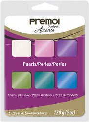 premo! Sculpey Accents Multipack ‐‐ Pearls, 6 x 1 oz