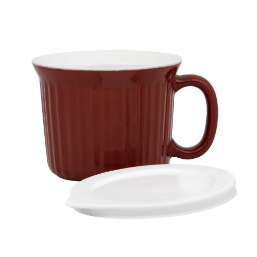 Corningware Colours 20-Ounce Mug with Cover, Red