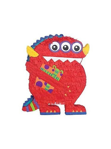 Red Monster Pinata - 21in X 16in