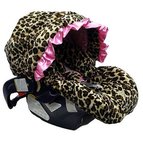 Lollipop Leopard Infant Car Seat Cover