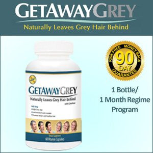 Get Away Grey - A New Natural Way to Make Your Grey Go Away (Size: 1 month (1 bottle))