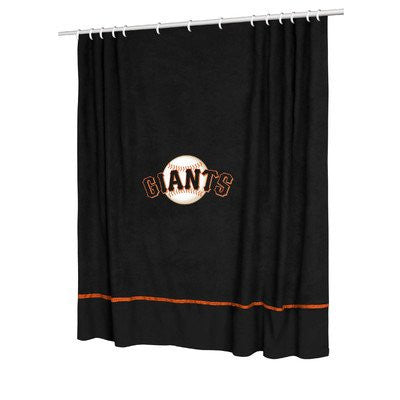 SIDELINES SHOWER CURTAIN San Francisco Giants - Color Black - Size 72x72