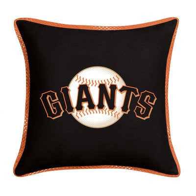 SIDELINES PILLOW San Francisco Giants - Color Black - Size 18x18
