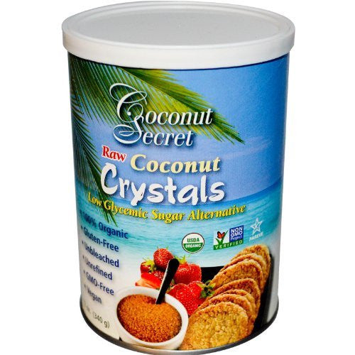 COCONUT SECRET Raw Coconut Crystals 100% Organic 12/12 OZ