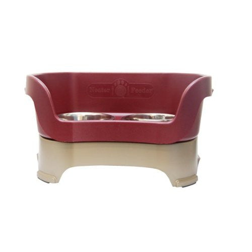 Medium Neater Feeder Deluxe - Reshippable Brown Box - Cranberry