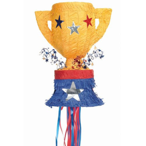 Trophy Pull String Pinata (Size: One Size Color: As Shown)
