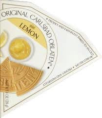 Carlsbad Oblaten Classic Dusted Lemon Wafers 1.0 OZ