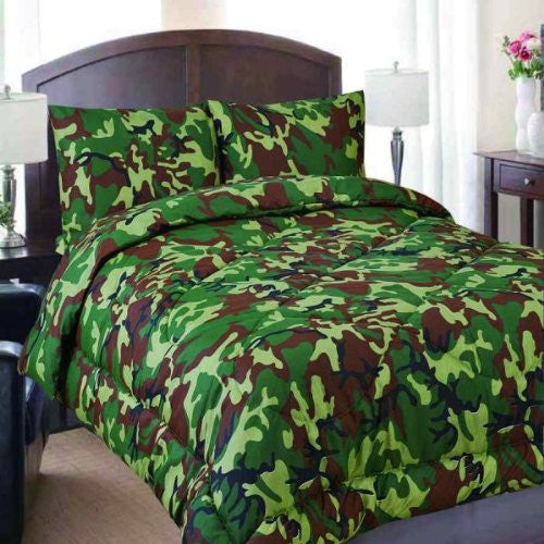 Military Camo Reversible Comforter - Twin Size