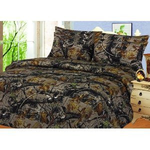 "The ""Woods"" Camo Licensed Black Comforter - Twin Size"