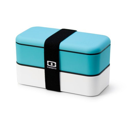 monbento Original bento box - sky blue / white