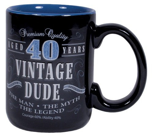 Vintage Dude Milestone Mug 40 Years
