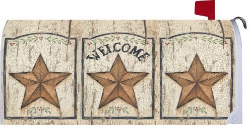 Weathered Star Welcome - Decorative Mailbox Makeover - Rural Size Mailbox Magnetic Cover
