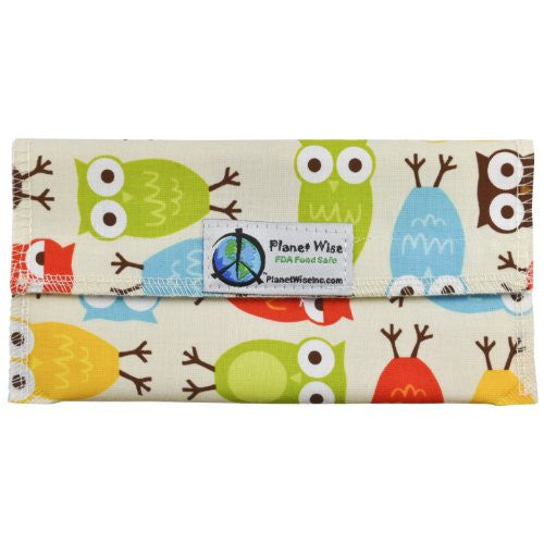 Planet Wise Sandwich and Snack Bags (Size: Snack Bag Color: Owls)