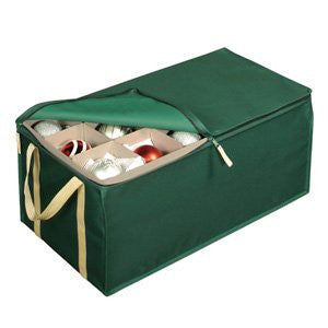 Holiday Green 54-cell Ornament Chest