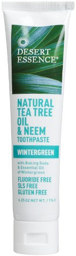 Oral Care Toothpaste,Tea Tree Oil/Neem w/Wintergreen - 6.25 oz