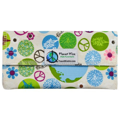Planet Wise Sandwich and Snack Bags (Size: Snack Bag Color: Peace On Earth)