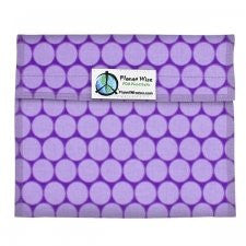 Planet Wise Sandwich and Snack Bags (Sandwich Bag, Purple Honeycomb)