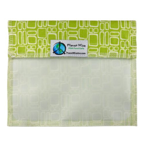 Planet Wise Sandwich and Snack Bags (Window Sandwich Bag, Lime Squares)
