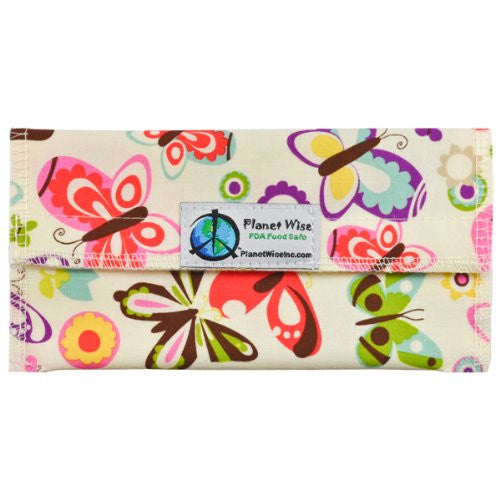Planet Wise Sandwich and Snack Bags (Size: Snack Bag Color: Butterflies)