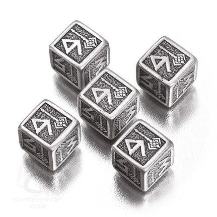 Metal D6 Dwarven Dice (set of 5)