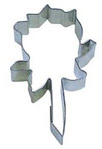"Rose 3"" Tinplated Cookie Cutter"