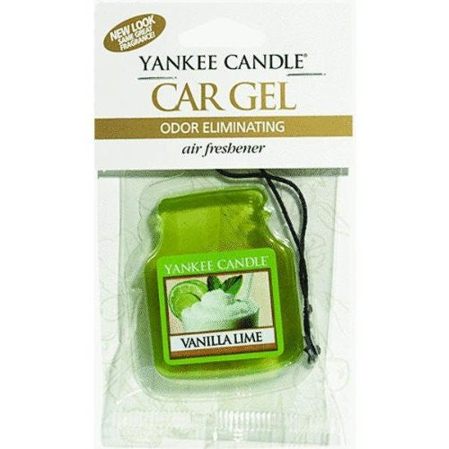 Yankee Candle Gel Car Jar Ultimate Hanging Odor Neutralizing Air Freshener Vanilla Lime Scent
