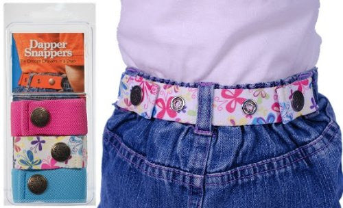 Dapper Snapper Baby & Toddler Adjustable Belt 3 Pack ~ Hot Pink, Butterflies & Turquoise