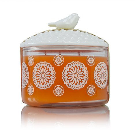 Thymes Mandarin Coriander Candle with Bird Lid