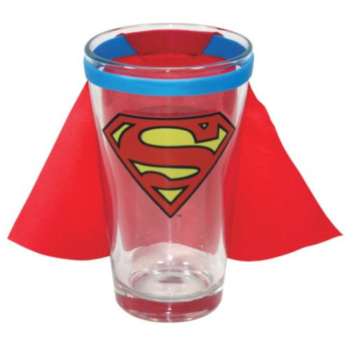 Superman Caped Logo Pint Glass - 16 Oz.