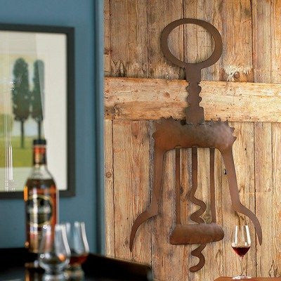 Giant Metal Corkscrew Wall Art