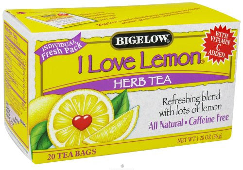 Bigelow I Love Lemon Herbal Tea with Vitamin C 20.0 BG