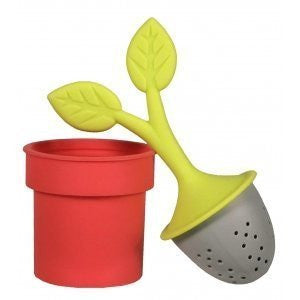 Tea Leaves Tea Infuser (Colors vary - red or green)