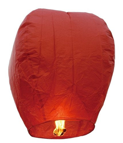 "40"" Tall Premium SKY LANTERNS - Fully Assembled - Flame Retardant - 100% Biodgradable (Size: Color: Red)"