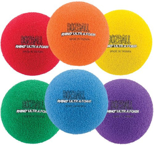 Champion Sports Rhino Foam No Bounce Ball Set (Multi)