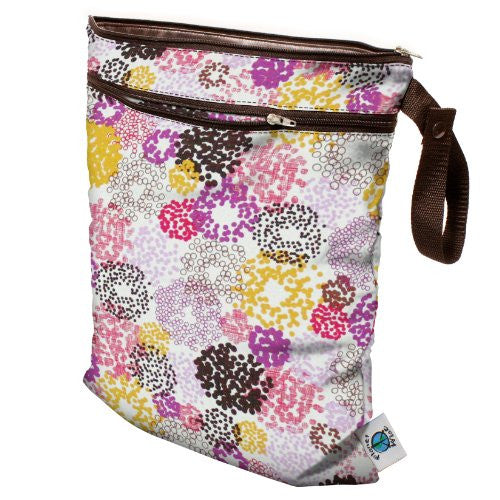 Planet Wise Wet/Dry Diaper Bag (Color: Chic Petunia)