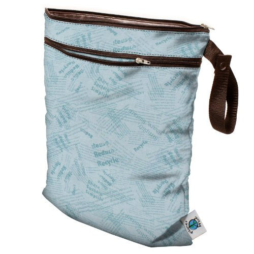 Planet Wise Wet/Dry Diaper Bag (Color: Blue Recycle)